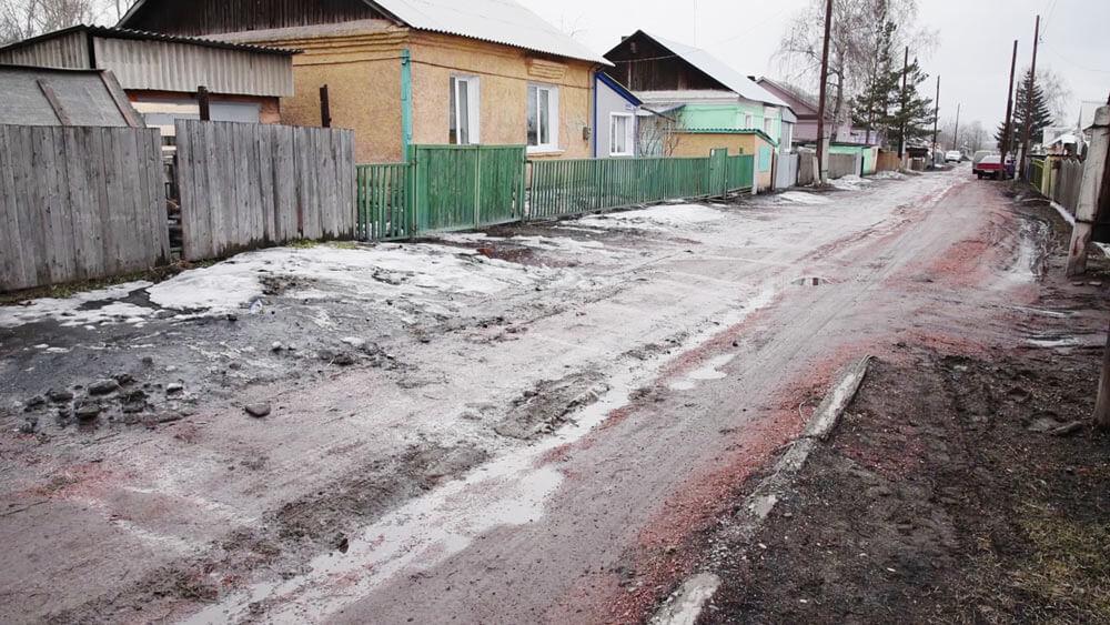 В Белове идет отсыпка дорог частного сектора