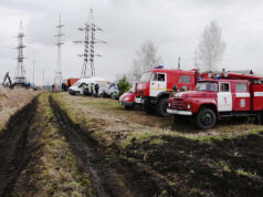 Пожарные учения в Белове