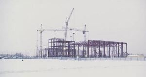 """Строительство стадиона """"Металлург"""" в Белово"""