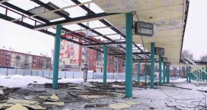 Демонтаж перрона автовокзала в Белово